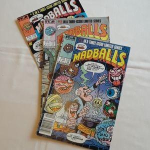 Vintage Madballs Comic Books